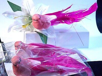 Lot 3 Christmas tree Clip on Pink birds ornaments (3) Xmas tree decor
