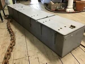 Vintage Fiberglass Large Chest Box Storage Cabinet Lockable 1.7M Queenstown Port Adelaide Area Preview