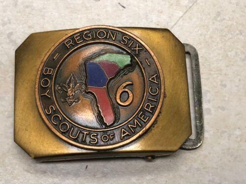 Vintage Boy Scout Region Six Belt Buckle