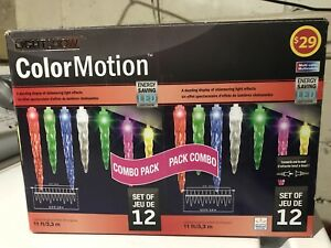 LED Icicles Christmas lights - 11ft - 12 Lamps