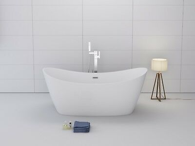 "1001NOW 60"" Freestanding White Acrylic Seamless Bathtub Modern"