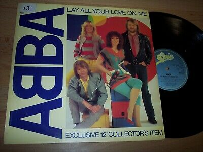 "NM 1980 ABBA Lay All Your Love On Me / On And On UK 12"" Single Sample LP Album"