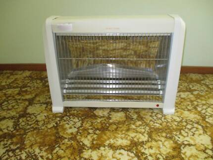 Fan-forced heater radiator