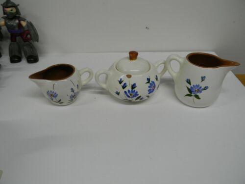 Vintage Stangl Pottery Chicory Sugar Bowl and 2 Creamers