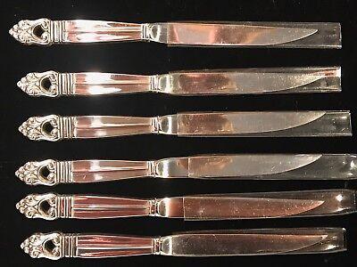(ROYAL DANISH - INTERNATIONAL STERLING - STERLING & STEEL STEAK KNIVES - 6 AVAIL)