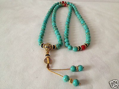 China tibet tibetan Lapis lazuli buddhist buddha worry prayer bead mala bracelet