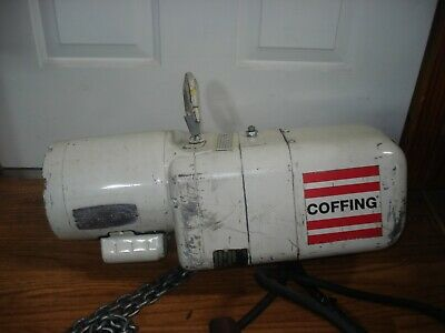 Coffing Electric Chain Hoist 250lbs 18ton 10ft Lift 115 230 Single Ph  H-2