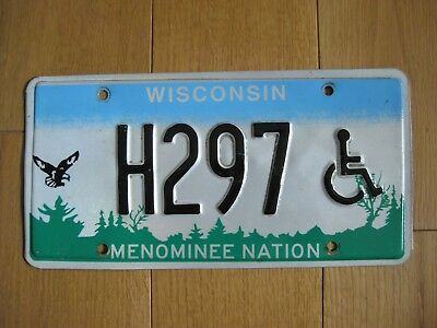 USA Nummernschild - Wisconsin - Menominee Nation