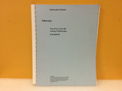 Tektronix 070-8688-05 Tas475 Tas485 Analog Oscilloscopes Instuction Manual