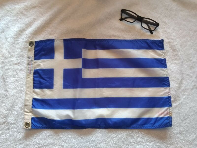 Nautical Flag Pennant Vintage Boat Ship 1 of 50 flags I am selling. GREECE
