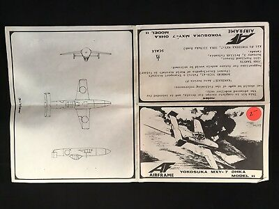 Used, Rare AF Airframe Yokosuka MXY-7 Ohka Model 11 Airplane Plane Model Vacuform Kit for sale  Shipping to South Africa