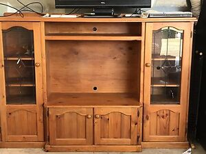 Wooden TV Cabinet Kyabram Campaspe Area Preview