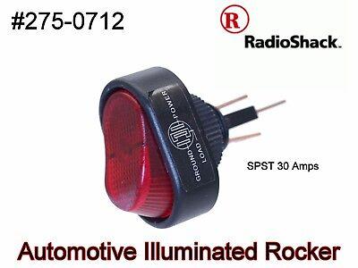 Radioshack Illuminated Rocker Automotive Switch 275-0712 Spst 30 Amps