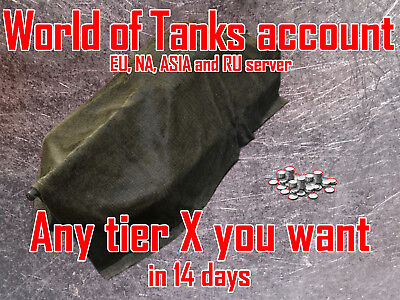 World Of Tanks Eu  Na  Ru And Asia   Any Tier X Account   Preorder