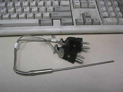 Thermocouple Dual Probe Type J M114-43005-6-3-3 Barcopac Barber Colman