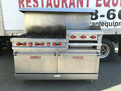 Vulcan Vg260 6-burner Restaurant Range With 24 Raised Griddlebroiler And Ovens