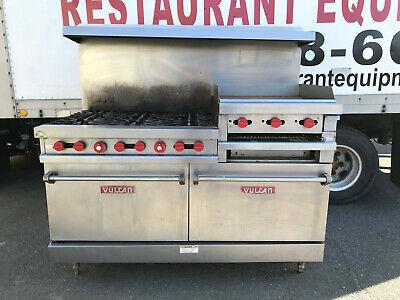 Vulcan Vg260 6-burner Restaurant Range With 24 Raised Griddlebroiler And Ovens