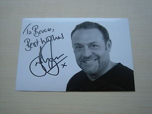 John Thomson (The Fast Show, Waterloo Road, Corrie) hand signed RARE *FREE POST*