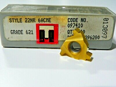 7 Pieces Rtw 22nr 6acme 621 Carbide Inserts  F522