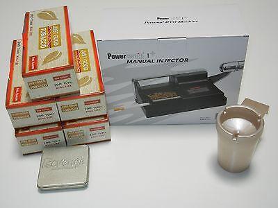 Powermatic 1 Cigarette Rolling Machine +5 FF Tubes, Tin, &more, KINGS&100s