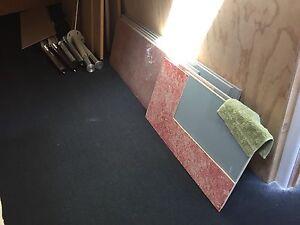 Wooden desk tops with legs, plus corkboard/chipboard panels Kensington Melbourne City Preview