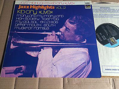 KID ORY - LIVE - JAZZ HIGHLIGHTS VOL. 2 - LP - SUNSET SLS 50 187 Z - GERMANY
