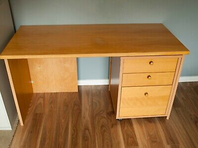 Office desk with 3 drawer pedestal. Home furniture.