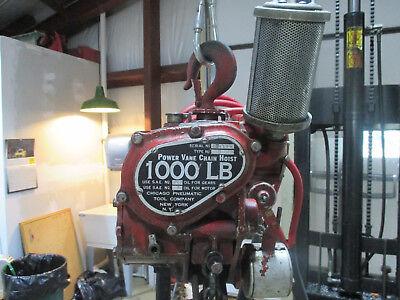 Chicago Pneumatic 1000 Lbs. Power Vane Pneumatic Chain Hoist 10 Ft Lift