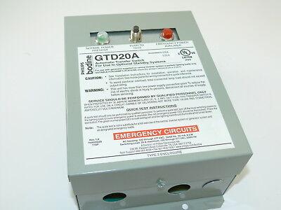 Philips Bodine Gtd20a Auto Matic Transfer Switch New Surplus