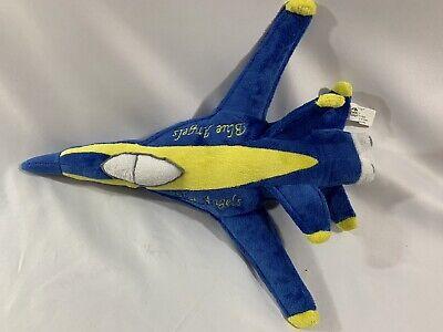 Blue Angels US Navy Jet Airplane Plush Stuffed Toy Yellow Blue Plane 16