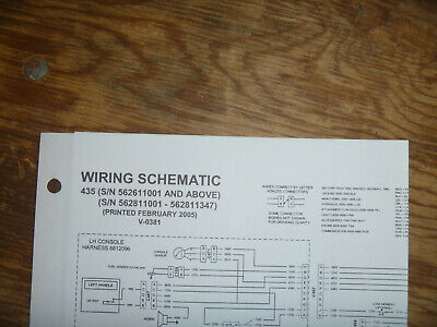 Bobcat 435 Excavator Electrical Wiring Diagram Schematic Manual