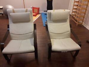 1 fauteuils IKEA POANG
