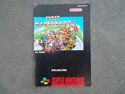 Notice Super nintendo / Snes Super Mario Kart PAL Booklet * bien lire
