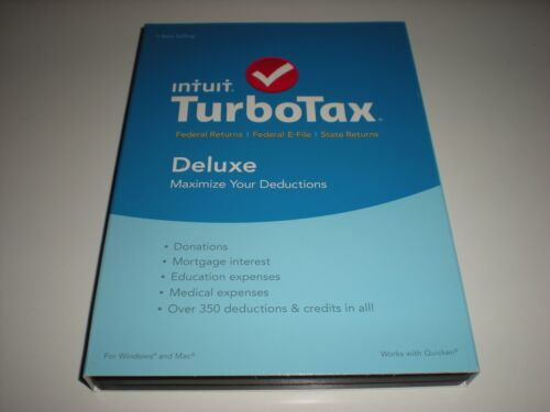 TurboTax Deluxe Federal & State Returns + Federal E-File 2015: Deductions & Homeowners Windows|Mac INT940800F042