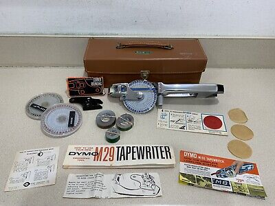 Dymo M-29 D Tapewriter Chrome Label Maker Hand Held Embossing Tool...must See