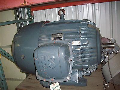 75hp Us Electric Rebuilt Motor 444us Frame Fan Cooled 1770 Rpm