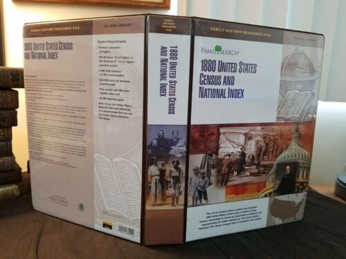 FamilySearch 1880 United States Census and National Index 55 CDs and Binder Fine