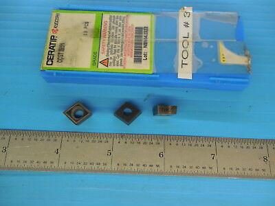 3 Pcs New Kyocera Ccgt 32.51 Carbide Inserts Tn60 Machine Shop Tooling Tools