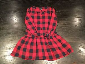 Toddler Girl Buffalo Plaid Dress 3T