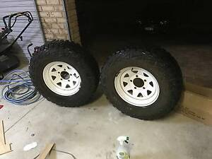 """31"""" Summit Mud Tyres with 16"""" Sunraysia Rims. 5 Stud Bolt pattern Booragoon Melville Area Preview"""