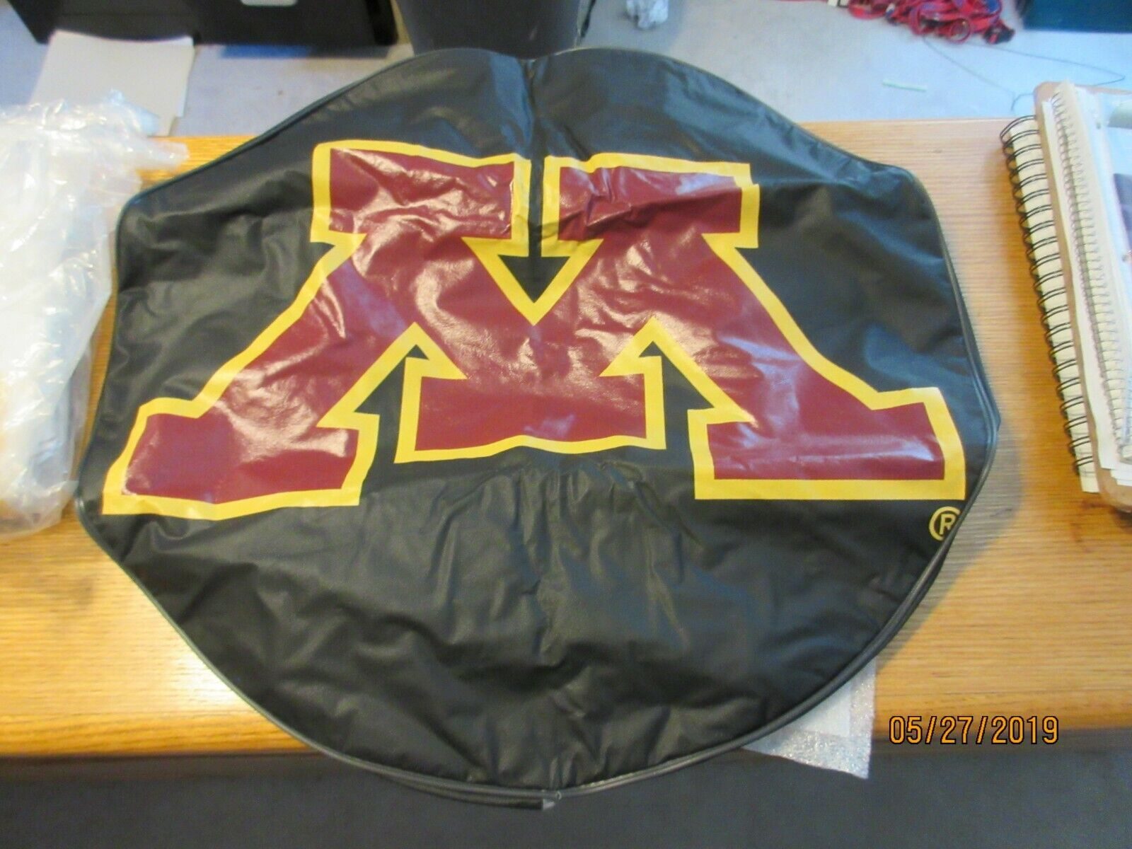 Minnesota Gophers Black Tire Cover by HBS Size 0 College