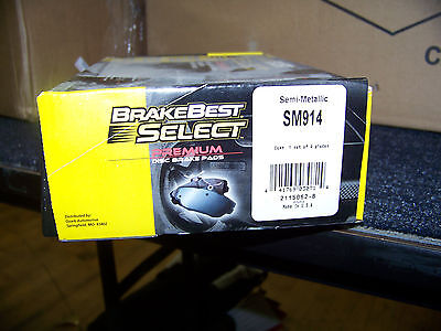 Brake Best Select Premium Disc Brake Pads Semi-Metallic # SM914 (Best Semi Metallic Brake Pads)