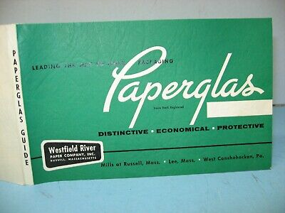 Vintage Paperglas Product Guide, Westfield River Paper Co, Russell, MA, Mint for sale  Shipping to Canada