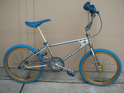 RACE BMX 1982 DIAMONDBACK TEAM PRO Koizumi Vintage Old School Chrome Gold & Blue