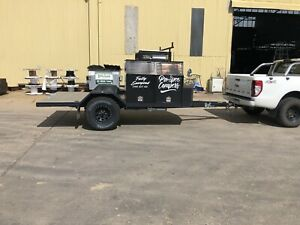 Toy hauler camper trailer tradesman trailer