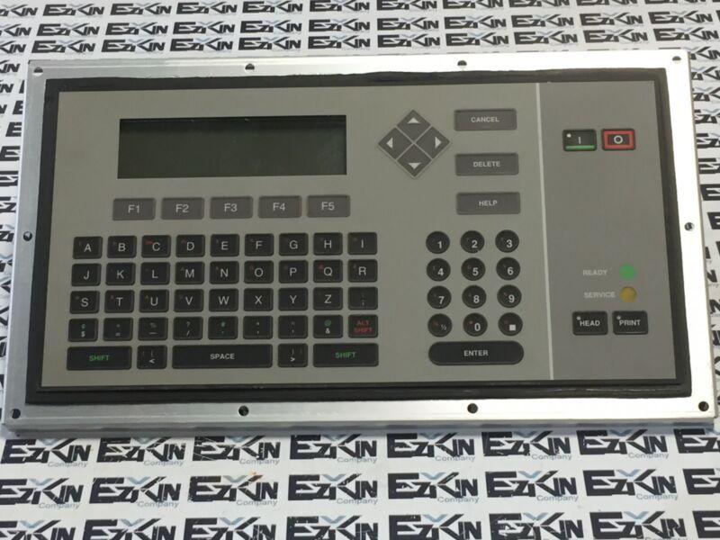 VideoJet 355315-REV-GA French Keyboard Interface Panel