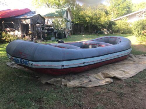 Gruene self bailing white water raft 14 ft