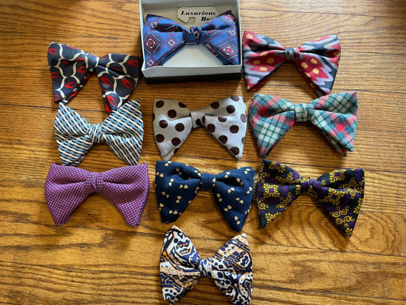 10 Nice Old Vintage Clip Bow Ties