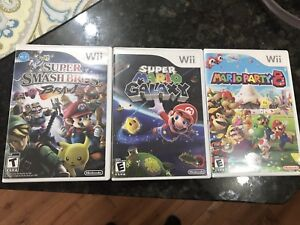 Set of 3 Mario games for the Nintendo Wii and Wii U system