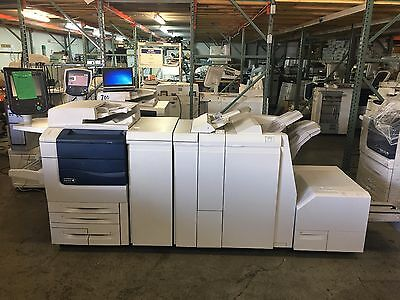 Xerox Color 550 With Light Pro Finisher Squarefold Ex550 Fiery Meter 209k